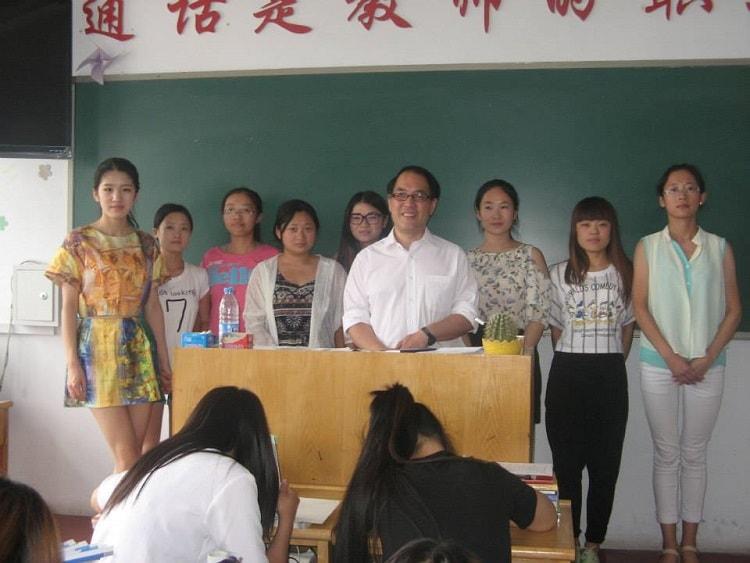 British born Chinese BBC teaching in China classroom