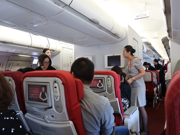 Beijing Capital Airlines flight attendants