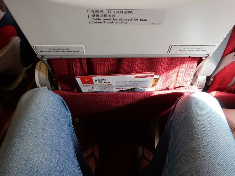leg room on economy flight