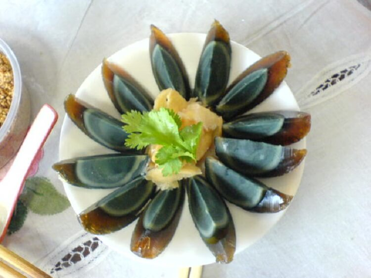 Century eggs in China