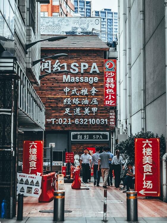 China spa massage