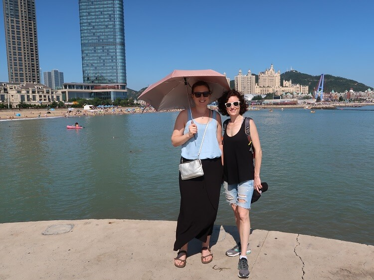 Australian women travelling in Dalian China