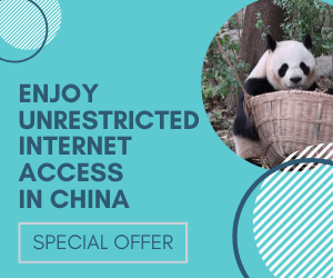 Unrestricted internet access in China