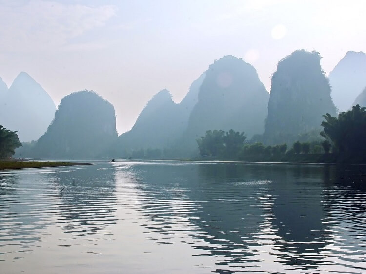 Yangshuo limestone mountains