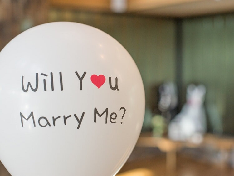 Marriage proposal balloon