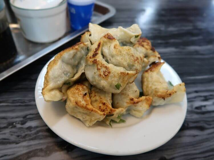 Fried dumplings jiaozi