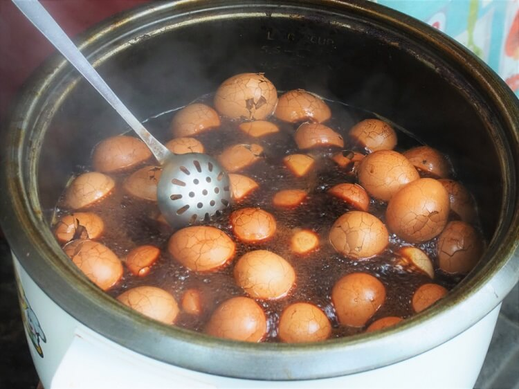 Tea eggs in China