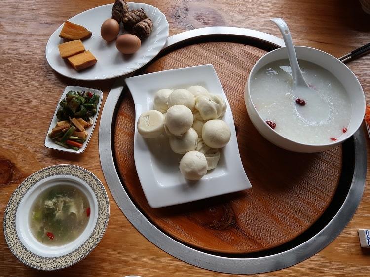 Vegetarian breakfast China