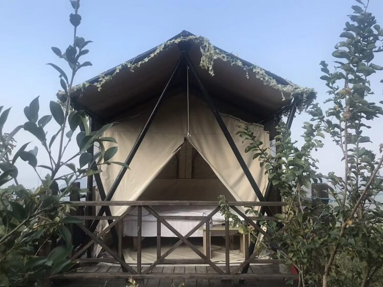 Glamping tent in China