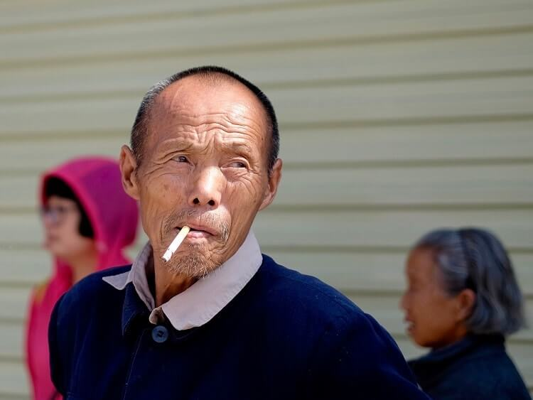 You'll notice smokers on your first trip to China