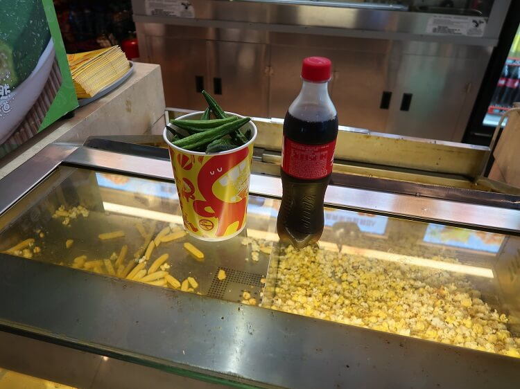 Beans and Coke at Chinese cinema