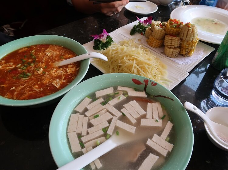 Tofu soup and other Chinese food