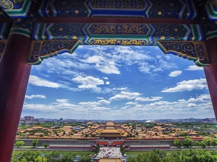 Beijing bright blue sky