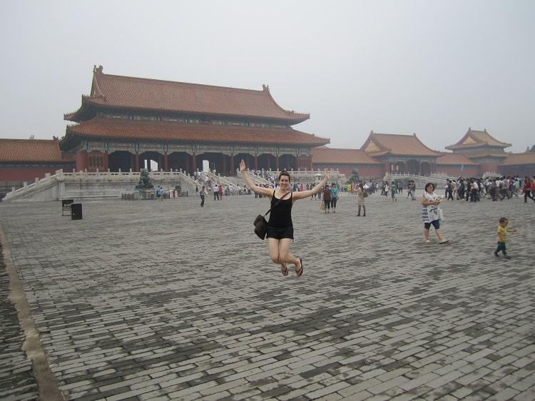 Tourist in Forbidden City