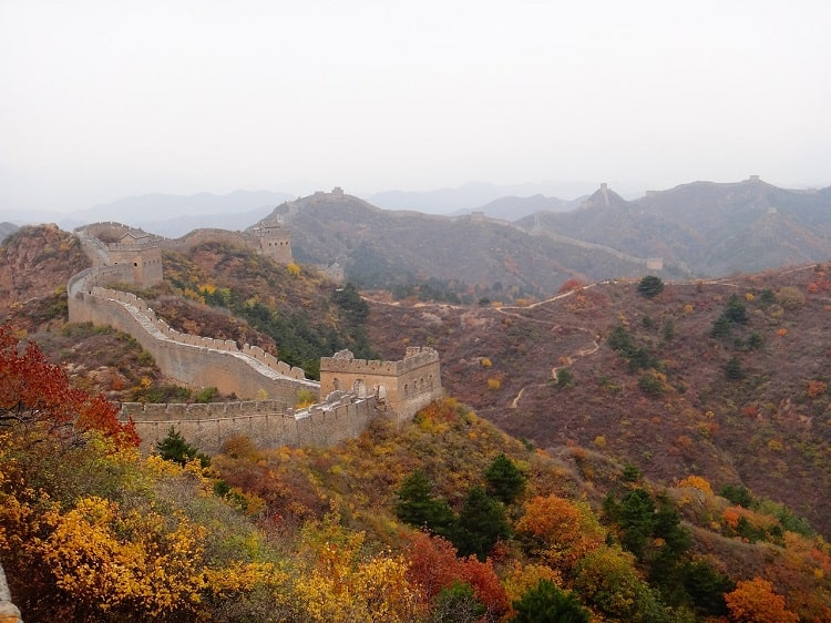 Beijing Great Wall in the fall