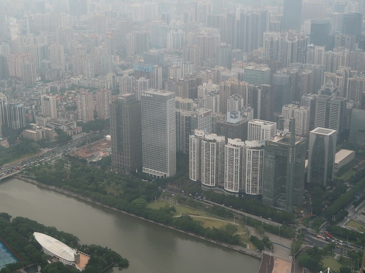 Guangzhou city skyline from Canton Tower