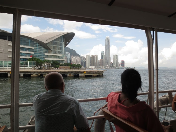 View from the Hong Kong ferry
