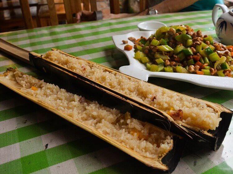 Longji bamboo rice