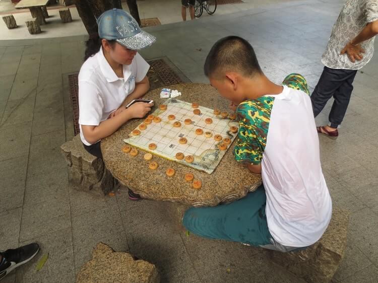Playing chess in Shenzhen