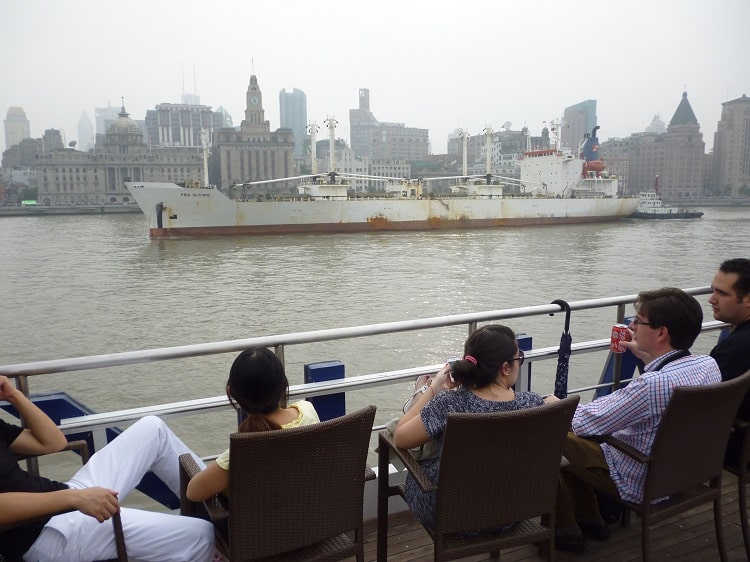 View of The Bund from boat