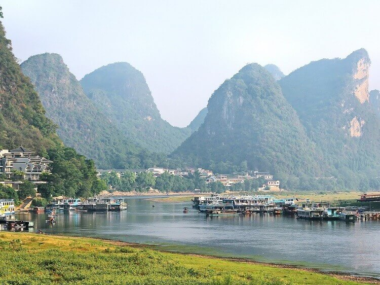 Yangshuo mountains and village