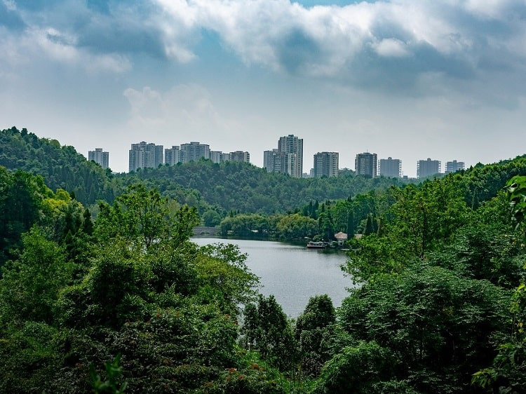 Guiyang surrounded by trees
