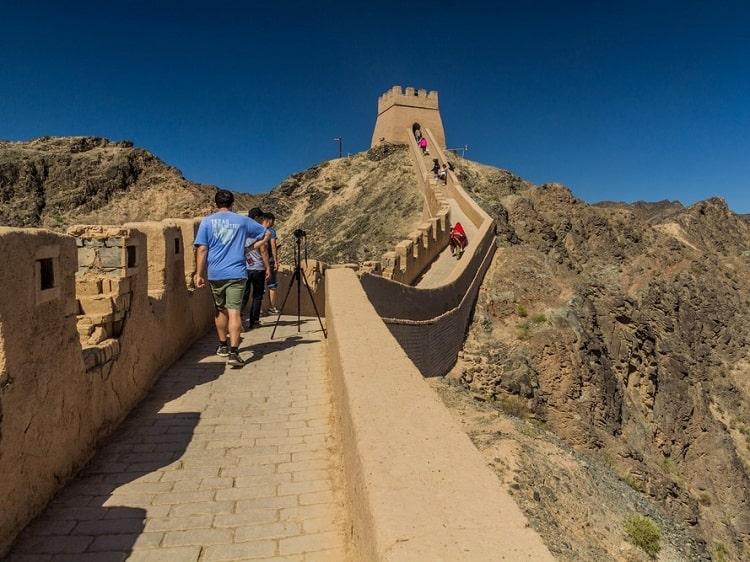 Great Wall in Gansu province