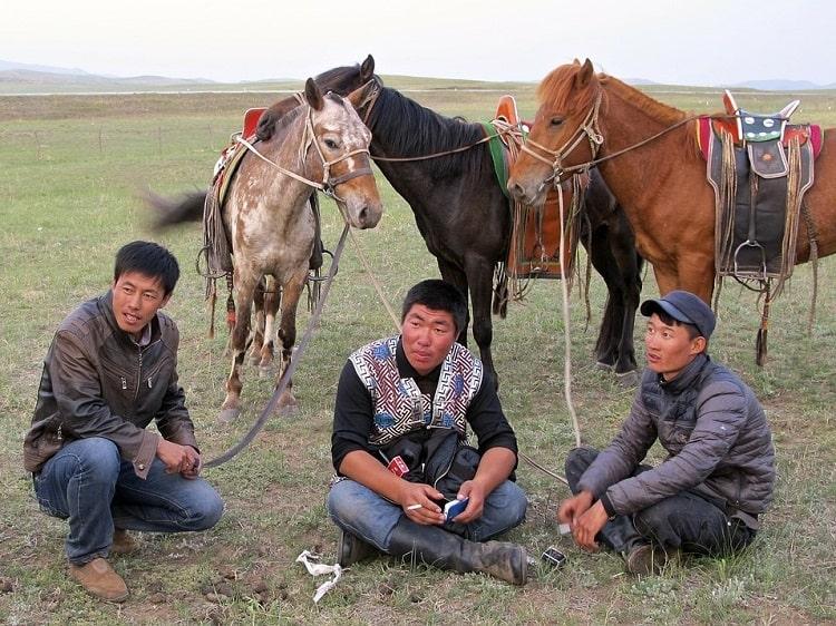 Inner Mongolian horsemen