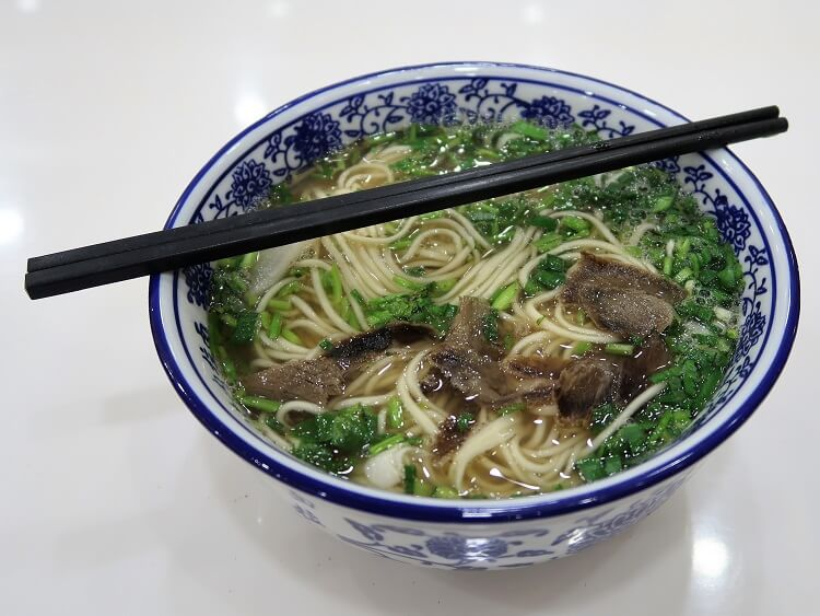 Lanzhou hand-pulled beef noodles