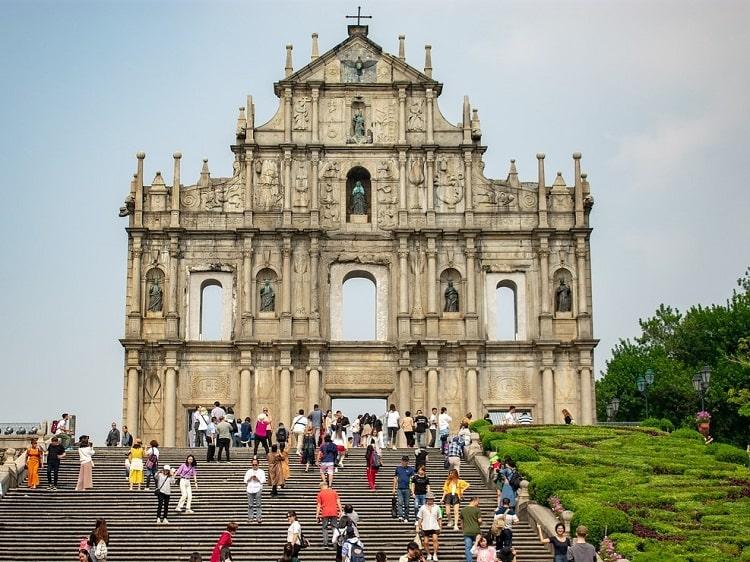 Ruins of St Paul in Macau China
