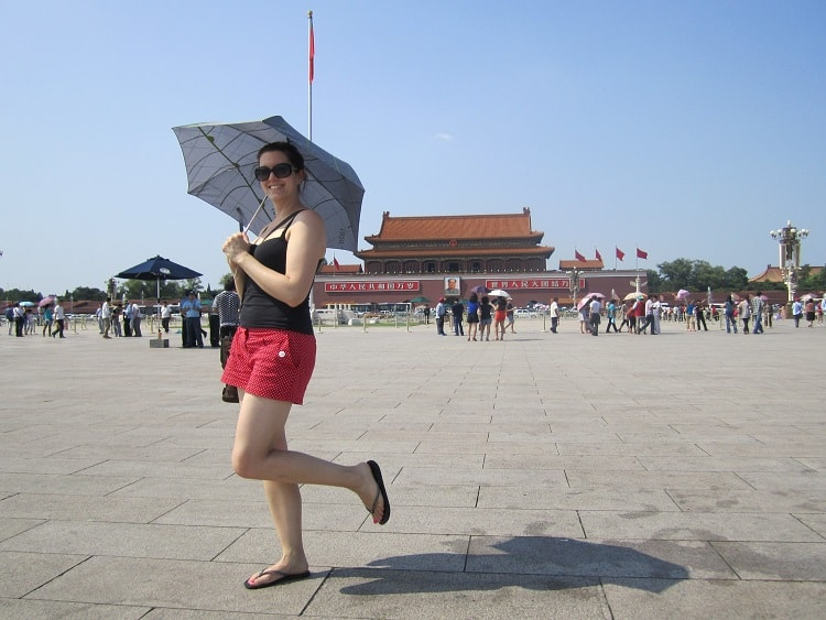 Tourist at the Forbidden City Beijing