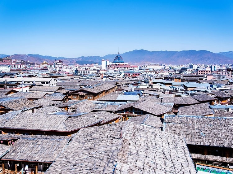 Rooftops in Yunnan Province China