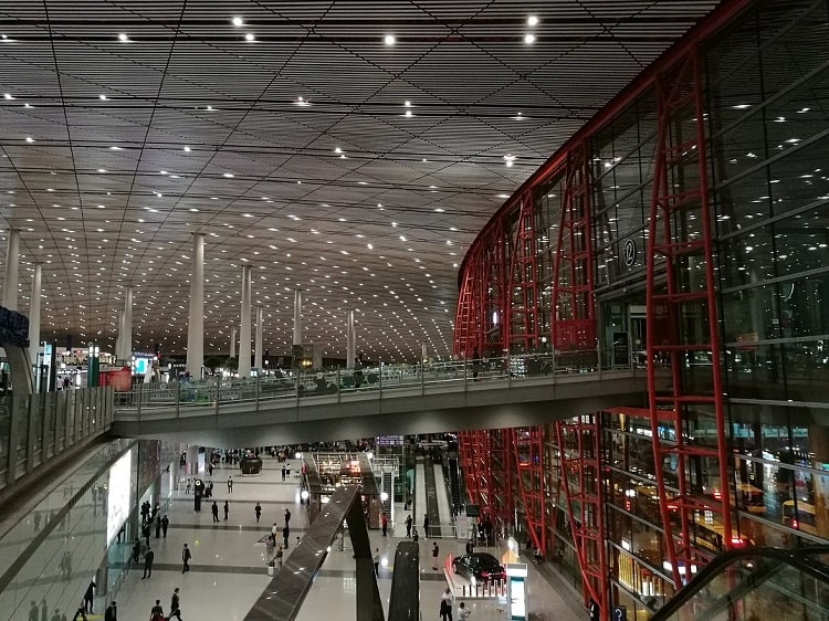 Inside Beijing Capital Airport