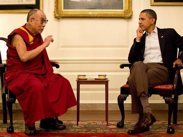 Dalai Lama and Barrack Obama