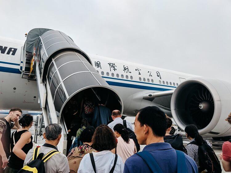Air China boarding