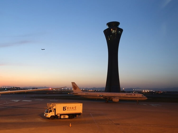 Beijing Airport traffic control tower