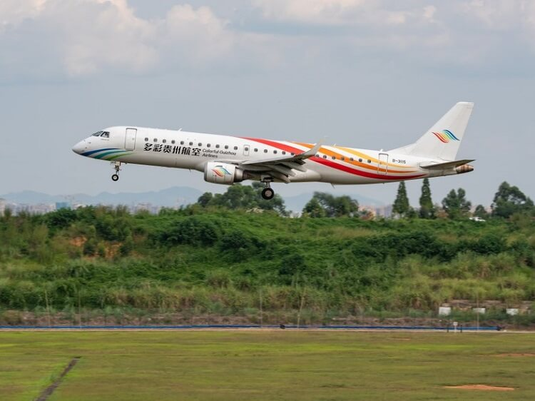 Colorful Guizhou Airlines is one of the smaller Chinese airlines