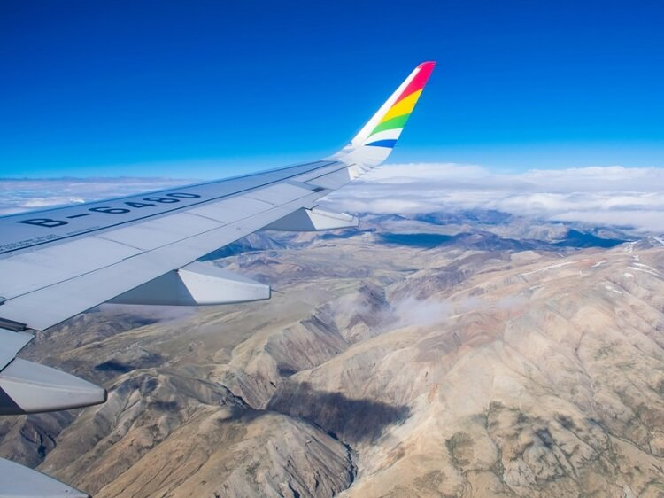 View from Tibet Airlines plane