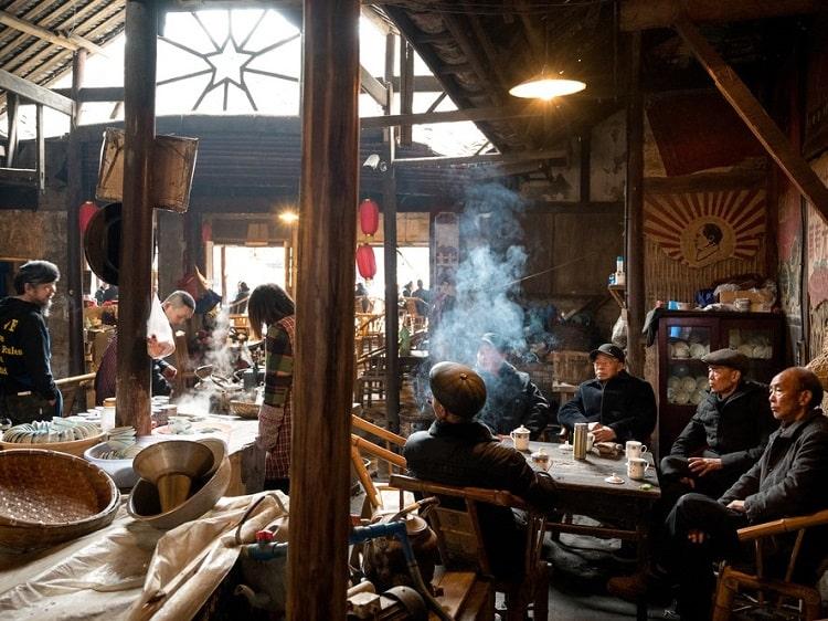Traditional tea house in Chengdu