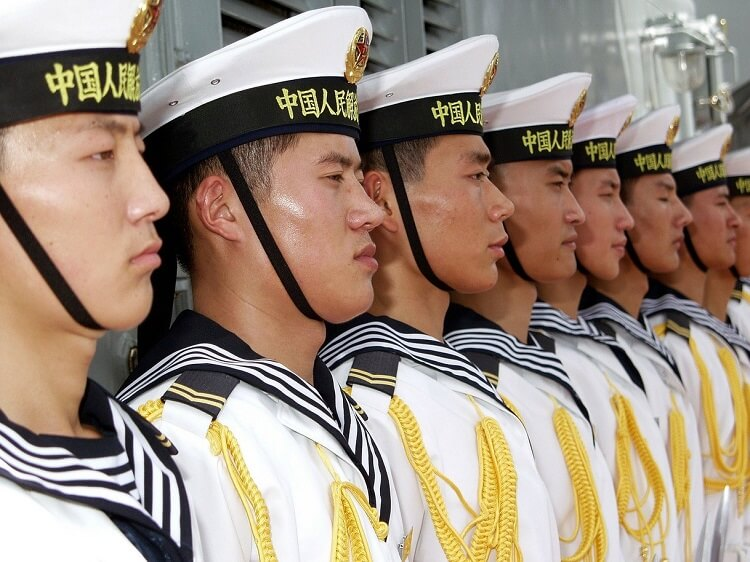 Chinese navy officers