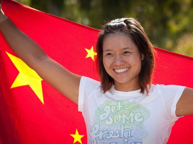 Champion Chinese tennis player Li Na