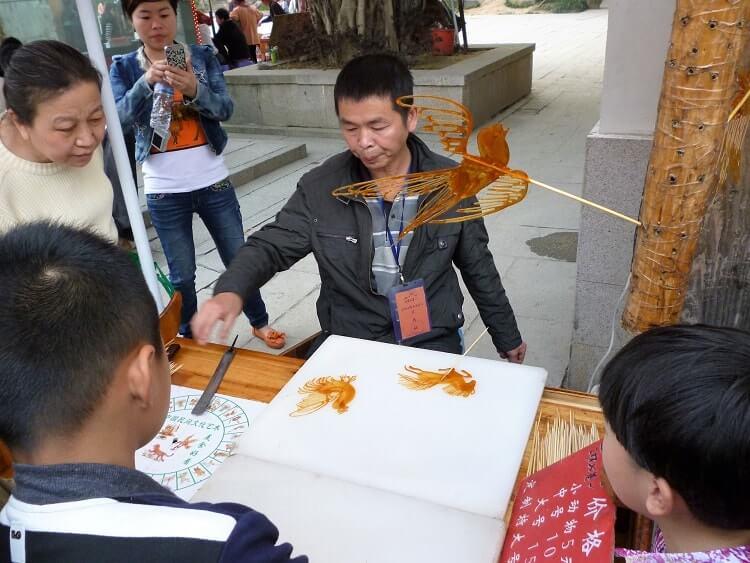 Street vendor at Sanfang Qixing