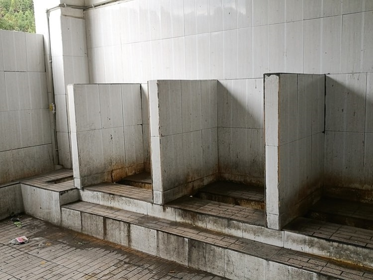 old public toilet in china