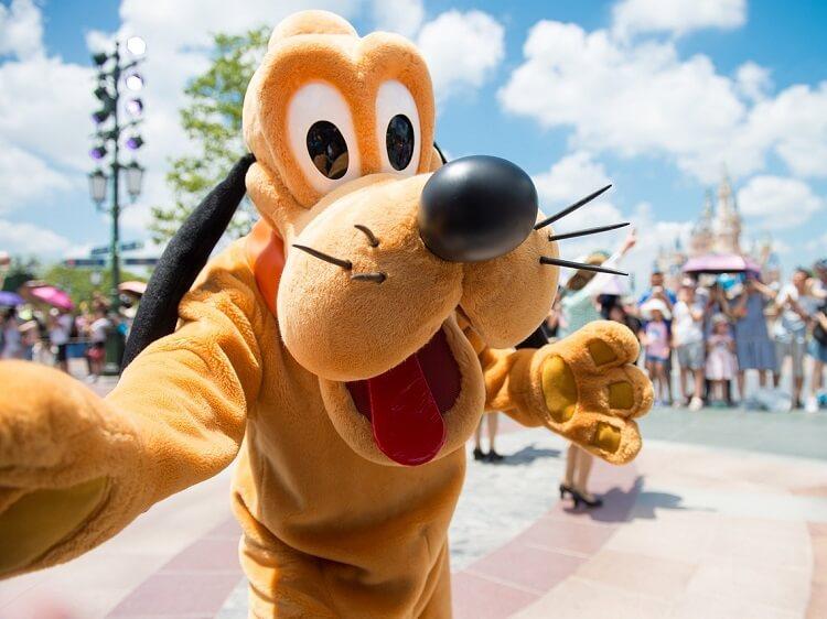 Pluto at Shanghai Disneyland