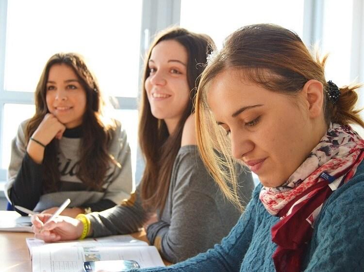 Young women doing internship