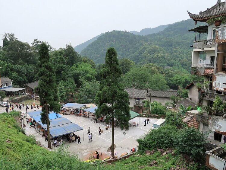 Part-way up Mount Emei China