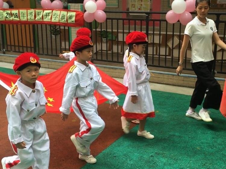 School assembly ritual China