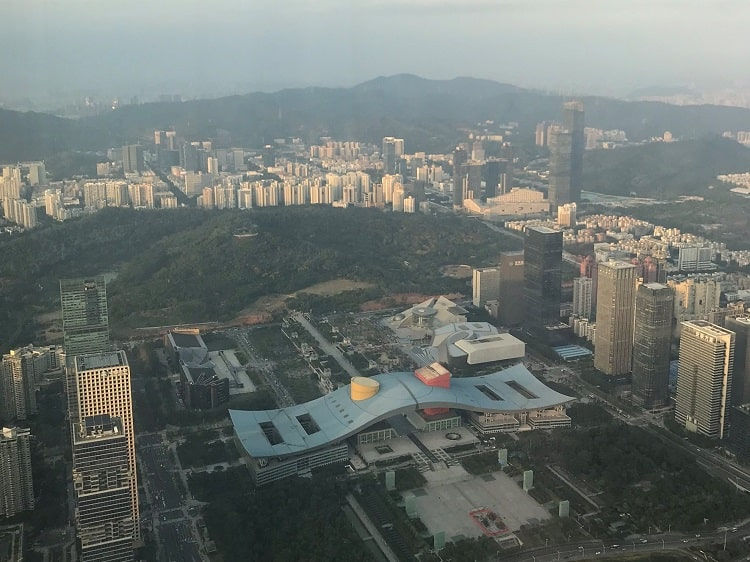 Lianhuashan Park and Shenzhen Civic Center