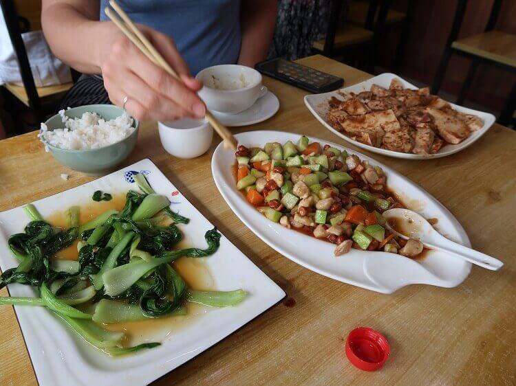 Using chopsticks in China